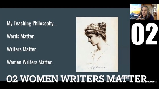 """02 Women Writers Matter from """"Female Creatives & A Star Is Born"""" with Dr. Rosanne Welch [Video]"""
