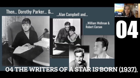 """04 The Writers of A Star Is Born (1937) from """"Female Creatives & A Star Is Born"""" [Video]"""