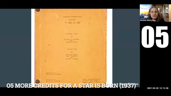 """05 More Credits for A Star Is Born (1937) from """"Female Creatives & A Star Is Born"""" [Video]"""
